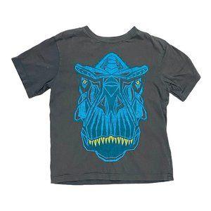 Grey Geo T-Rex Print T-Shirt